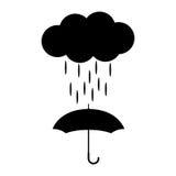 Icono del vector con la nube y el paraguas libre illustration
