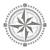 Icono del vector con la rosa de compás Imagen de archivo libre de regalías