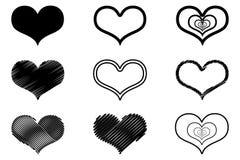 Icono del vector del corazón Foto de archivo libre de regalías
