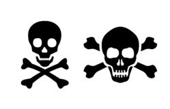 Icono del vector del cráneo stock de ilustración