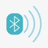 Icono del vector de Bluetooth Imagenes de archivo