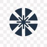Icono del vector de Dharma aislado en el fondo transparente, Dharma t ilustración del vector