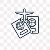 Icono del vector de dos pasaportes aislado en el fondo transparente, li ilustración del vector
