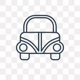 Icono del vector de Escarabajo Volkswagen aislado en fondo transparente ilustración del vector