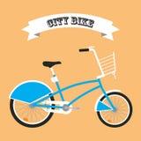 Icono del vector de la bici de la ciudad Foto de archivo