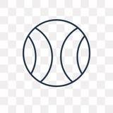 Icono del vector de la bola del poder aislado en el fondo transparente, linea stock de ilustración