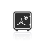 Icono del vector de la caja fuerte del hierro ilustración del vector