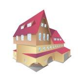 Icono del vector de la casa isométrica Fotos de archivo libres de regalías