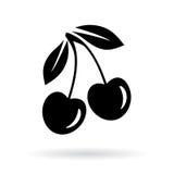 Icono del vector de la cereza ilustración del vector