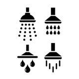 Icono del vector de la ducha del baño Foto de archivo