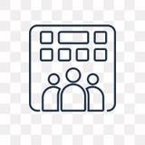 Icono del vector de la empresa aislado en el fondo transparente, linea stock de ilustración