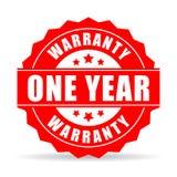 Icono del vector de la garantía de un año Imagen de archivo