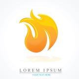 Icono del vector de la llama del fuego Imagenes de archivo