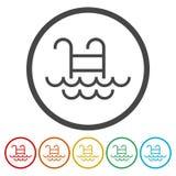 Icono del vector de la piscina aislado libre illustration