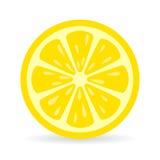 Icono del vector de la rebanada del limón Imagenes de archivo