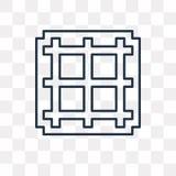 Icono del vector de la rejilla aislado en el fondo transparente, rejilla linear stock de ilustración