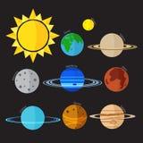 Icono del vector de la Sistema Solar Imagenes de archivo