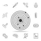 Icono del vector de la Sistema Solar Sistema detallado de ciencia y de aprender iconos del esquema Diseño gráfico de la calidad s stock de ilustración