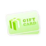 Icono del vector de la tarjeta del regalo stock de ilustración