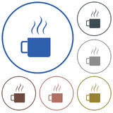 Icono del vector de la taza que acampa Fotos de archivo libres de regalías