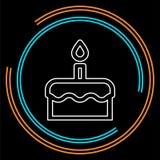 Icono del vector de la torta de cumpleaños libre illustration