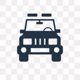 Icono del vector de la vista delantera del jeep aislado en fondo transparente, libre illustration
