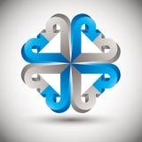 icono del vector de las flechas 3d Fotografía de archivo