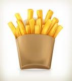 Icono del vector de las patatas fritas Imagen de archivo libre de regalías