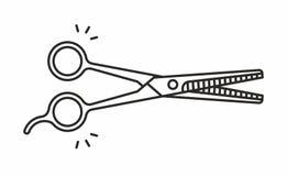 Icono del vector de las tijeras Fotografía de archivo libre de regalías