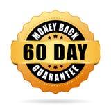 60 - icono del vector de los días de garantía de devolución de dinero ilustración del vector
