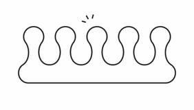 Icono del vector de los separadores ilustración del vector