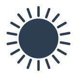 Icono del vector de Sun Imágenes de archivo libres de regalías