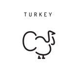 Icono del vector de Turquía Fotos de archivo