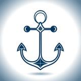 Icono del vector del ancla Tema náutico Foto de archivo libre de regalías