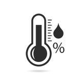 Icono del vector del barómetro stock de ilustración