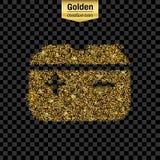 Icono del vector del brillo del oro Imagen de archivo libre de regalías
