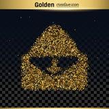 Icono del vector del brillo del oro Fotografía de archivo libre de regalías
