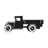 Icono del vector del camión del vintage Fotografía de archivo