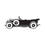 Icono del vector del coche del vintage Foto de archivo
