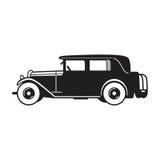 Icono del vector del coche del vintage Imagen de archivo libre de regalías