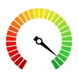 Icono del vector del dial del velocímetro stock de ilustración