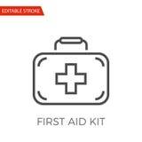 Icono del vector del equipo de primeros auxilios Imagen de archivo libre de regalías
