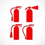 Icono del vector del extintor ilustración del vector