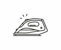 Icono del vector del hierro ilustración del vector