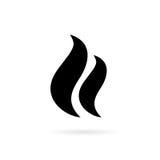 Icono del vector del humo del vapor Fotografía de archivo