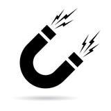 Icono del vector del imán stock de ilustración