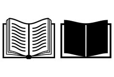 Icono del vector del libro Foto de archivo