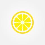 Icono del vector del limón aislado en el fondo blanco Imágenes de archivo libres de regalías