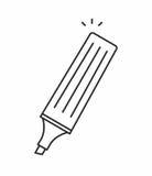 icono del vector del marcador libre illustration