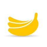 Icono del vector del plátano Imagenes de archivo